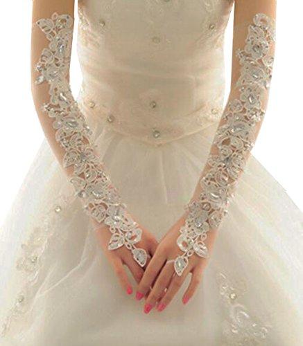 Élégantes Gants de mariage mariée cortège des gants de dentelle de robe-07
