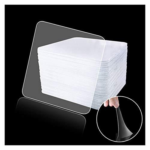 WWDD 20pcs de Doble Cara de plástico Transparente Ventosa Auxiliar Pegatinas Fuerte y sin Fisuras Gancho de Coches Pegatinas de Coches (Color : 6x6cm)