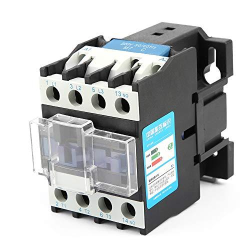 SANON Cjx2-2510 Contactor de Ca Eléctrico Industrial de Alta Sensibilidad 220V 25A
