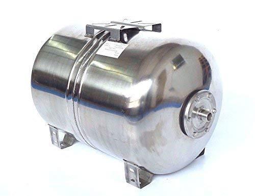 100 l Druckkessel max. Druck 10 bar, Membrankessel für Hauswasserwerk aus poliertem Edelstahl u. EPDM Membran. Druck- und Dichtheitsprüfung nach EN Normen !!!