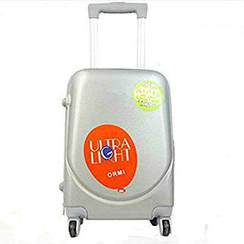 Cabin Suitcase 52 x 35 x 20 x 30 L Hand Luggage Trolley Travel with 4 Wheels 360 Degree Rotation Lightweight and Flexible Silver Silver