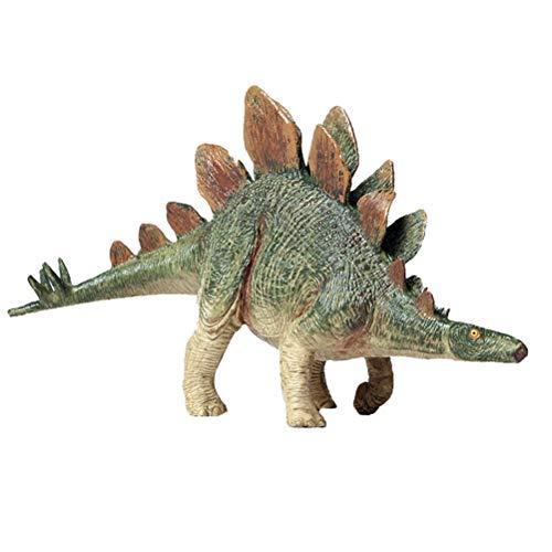 FLORMOON Dinosauri Giocattoli Realistico Stegosauro Dinosaur Figure di Dinosauri in plastica Decorazioni per Torte di Compleanno Articoli Feste Giocattolo per la Scuola sul Retro per Bambini(Verde)