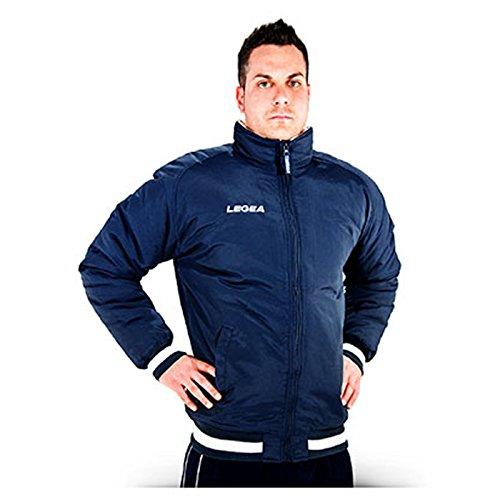 Legea herenjack Ultrà met capuchon bomber winterjack windjack running voetbal hardlopen training sport (XXL, blauw)