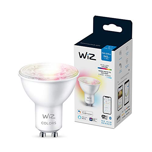 Wiz bombilla Wifi y bluetooth LED regulable colores 50W GU10, 2200-6500K, 4.9W (equivale a 50 W), A+