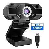 BREEZE Webcam HD 1080P con micrófono, Webcam para computadora con transmisión automática con Enfoque automático para computadora portátil/computadora de Escritorio/Mac, para Video Llamada/Conferencia