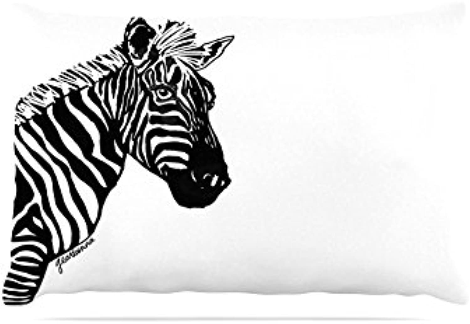 Kess InHouse Geordanna CorderoFields My Zebra Head  Black White Fleece Dog Bed, 30 by 40