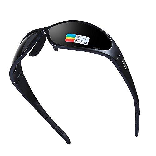 JIEPOLLY Sportbrille Herren Damen Polarized Fahrradbrille UV Schutz Sport Sonnenbrille für Radfahren Autofahren Skisport Fischen Laufen Wandern Golf Beachvolleyball-Spielen und Wandern