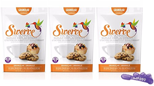 Swerve Sweetener, Granular 12 Ounce (Pack of 3) + Swerve Measuring Spoons