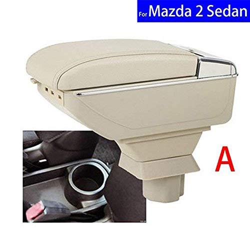 SZSS-CAR lederen auto onderdelen centrum console armsteun doos auto armleuningen opslag Seden with USB Zwart