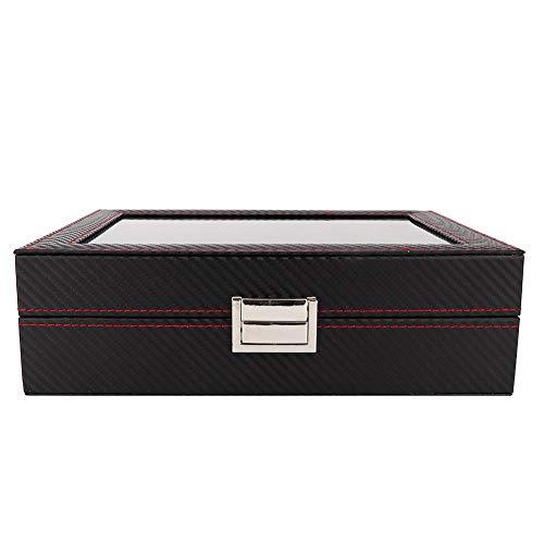 Cimenn 10 Grids Tragbare Und Reise Uhr Display Box,uhrensammlergehäuse, Watch Storage Organizer Für Die Aufbewahrung Von Uhren Zu Hause, Auf Reisen, Im Geschäft