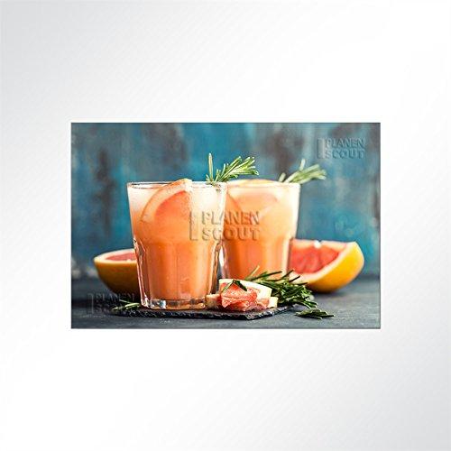 LYSEL akoestische afbeelding cocktail - Een fruitige grapefruit limonade 200x200 cm (BxH) oranje