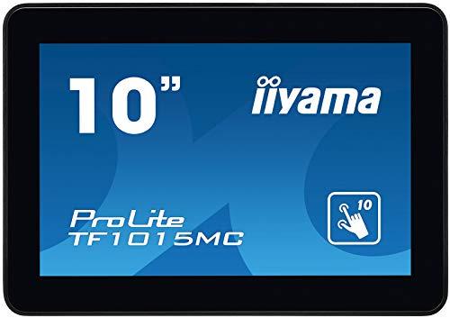 iiyama Prolite TF1015MC-B2 25, 7 cm (10 Zoll) VA LED-Monitor WXGA Open Frame 10 Punkt Multitouch kapazitiv (VGA, HDMI, DisplayPort, USB für Touch, IP65, Glare) schwarz