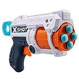 XSHOT- Pistola Fury 4 – Barilotto 4 Colpi, 16 Lame, Colore frecce, 36377