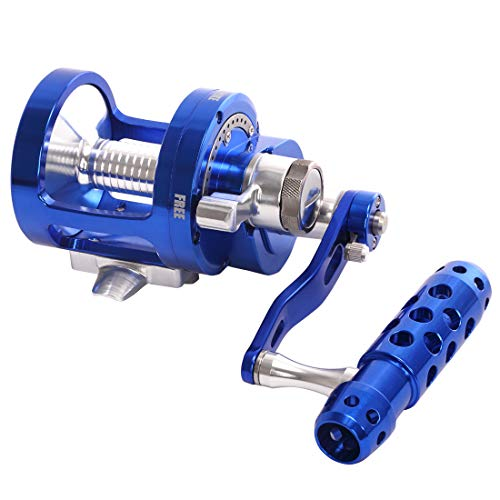 Channelmay Saltwater Jigging Big Game Fishing Reel CNC Machined 2 Speed 44lbs Lever Drag Deep Sea Boat Trolling Fishing Right Handed Only