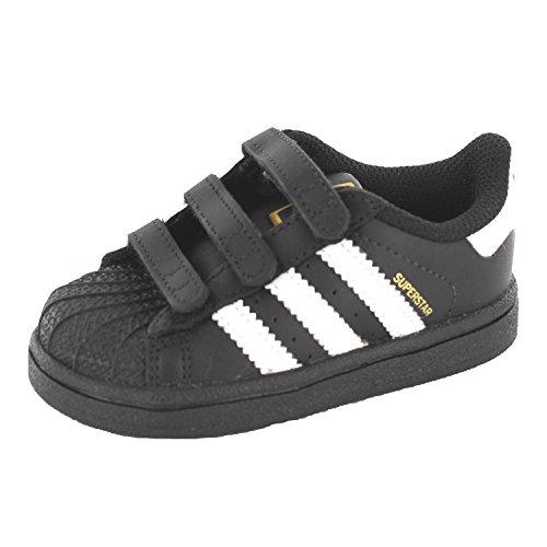 adidas Superstar Foundation Cf I, Chaussures Bébé marche mixte bébé, Noir (Core Black/Ftwr White/Core Black), 22 EU (18-24 months Bébé UK)