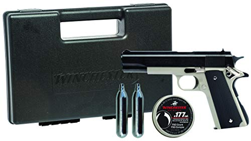Winchester Model 11K CO2 Pistol Kit with Case, Multi, Model Number: 992911-402