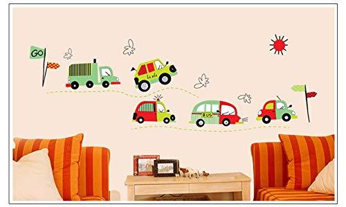 Qingany Comic-stickers, auto, bus, mooie decoratie thuis, voor slaapkamer, kinderkamer, knutselen, afneembaar, wanddecoratie