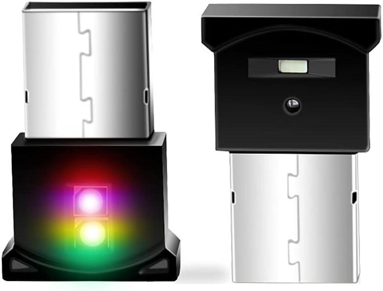 Mini USB LED Lights, RGB Car Interior Ambient Lighting Kit, Smart USB LED Atmosphere Light, Laptop Keyboard Light Home Decoration Night Lamp, 8 Color Change and Adjustable Brightness, DC5V (1-Pack)