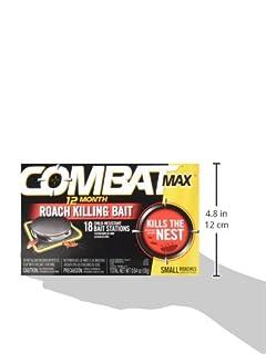 شراء Combat Max 12 Month Roach Killing Bait, Small Roach Bait Station, Child-Resistant, 18 Count