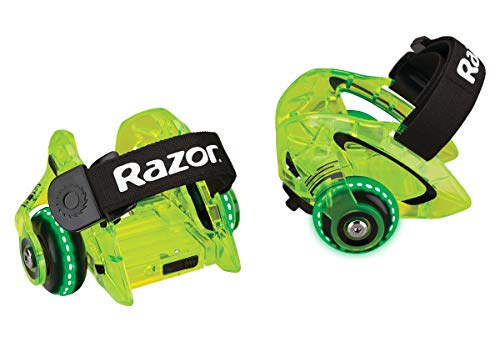 Razor Jetts DLX Heel Wheels - Neon Green - FFP