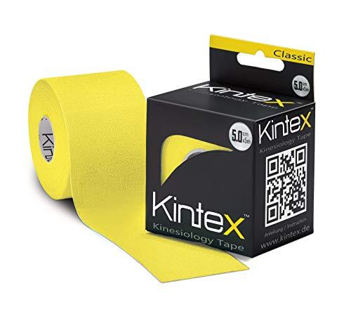 Kintex 0 Kinesiologie Tape Classic 5cm x 5m Farbauswahl (Gelb), 5cm x 5cm