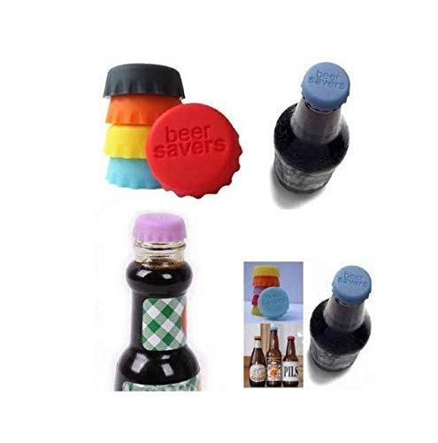 Tappo di bottiglia per Anlising Tappo ecologico Tappo a corona in silicone Tappo di birra riutilizzabile Capsule di vino Risparmiatore di birra Tappetino da birra in silicone (24 pezzi)