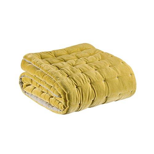 Vivaraise - Jeté de lit - Couvre-lit - Couverture lit - Drap lit - Jeté de lit décoration - 240 x 260 - Housse 100% Coton Garnissage 100% Polyester - Absynthe Vert - Elise