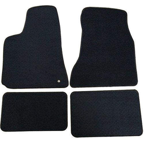Floor Mats Compatible With 2005-2010 Chrysler 300 300C, 4Dr Factory Fitment Car Floor Mats Front & Rear Nylon by IKON MOTORSPORTS, 2006 2007 2008 2009