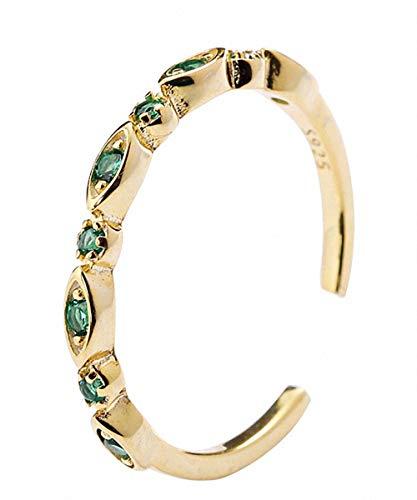 Lotus Fun S925 - Anello in argento Sterling con corona dorata, regolabile, gioiello fatto a mano, per donne e ragazze