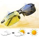 AMZSUPER ERA Gafas Vision Nocturna Amarillas Unisex de Antideslumbrante gafas de sol hombre polarizadas , para la conduccion nocturna/ Deportes al Aire Libre .