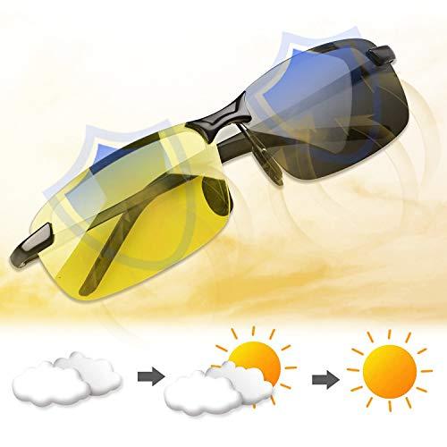 cersaty® HD Nachtfahrbrille Herren Damen Auto Polarisiert Blendschutz 100% UVA UVB, Nachtsichtbrille für Golf Angeln Autofahren Outdoor Aktivitäten
