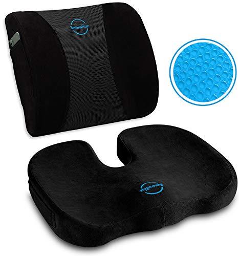 Ultimate Pro Set: Ergonomic Lumbar Support Pillow...