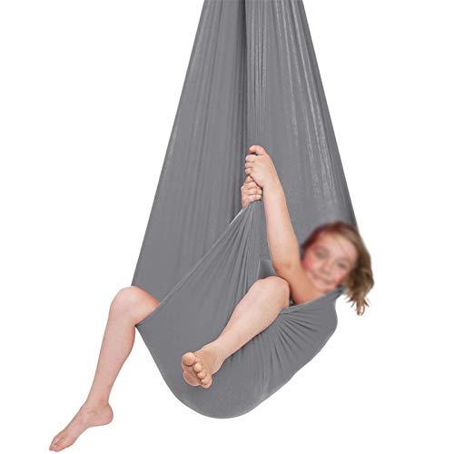 Jlxl Columpio De Hamaca para Niños Abrazo Ideal para La Integración Sensorial para Colgar Yoga Al Aire Libre Camping hasta 440 Lbs Regalo (Color : Orange, Size : 150x280cm/59x110in)