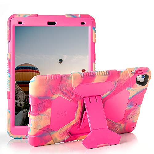 iPad Case for iPad 10.5, iPad Pro 10.5 Case, iPad Air 3 Case, iPad Air 10.5 Case, iPad Air 3rd Generation Case, 10.5 inch iPad Pro Case, iPad Air Case for Kids, Fall Resistant iPad Cover (Camo/Pink)