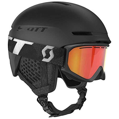 Scott Junior Track Helmet + Fact Goggle Combo Schwarz, Accessoires, Größe S - Farbe Black