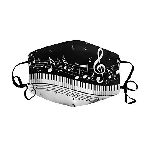 Luc Negro_mascar_illa Reutilizable con Patrón De Música, Mas_carilla...