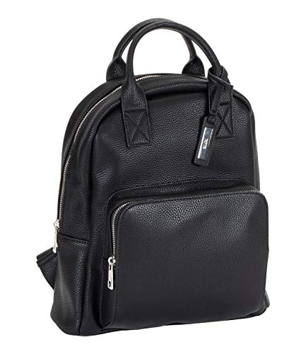 SIX 1 pc. Backpack In Faux Leather-Look Black (539-091)