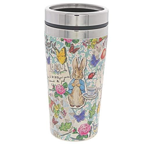 Beatrix Potter A29518 - Tazza da viaggio in bambù, motivo: Peter Rabbit