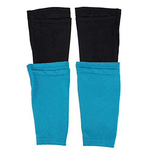 Abaodam 2 pares de deportes al aire libre protector de pierna manga fútbol pierna Brace Gear