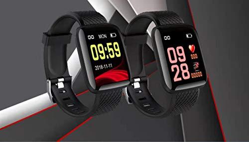 Frmarche - Pulsera Inteligente de Color con Pantalla y tensiómetro Bluetooth, Monitor Visible, Reloj Inteligente y Pulsera Negra