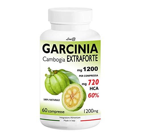 GARCINIA CAMBOGIA EXTRAFORTE 1200mg per compressa 100% PURE con 720mg HCA per cpr - 100% NATURALE (60 CPR) Bruciagrassi/Fame Nervosa/Ottimo alleato delle Diete! Prodotto ITALIANO