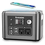 350W Portable Power Station, Enginstar 296Wh Backup Lithium Battery with Wireless Charger, Solar Generator (Solar Panel Buy Separately) for Outdoors Camping Travel CPAP Machine Emergency