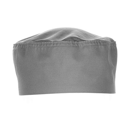 Chef Works - Cool Vent Skull Cap Beanie, color gris