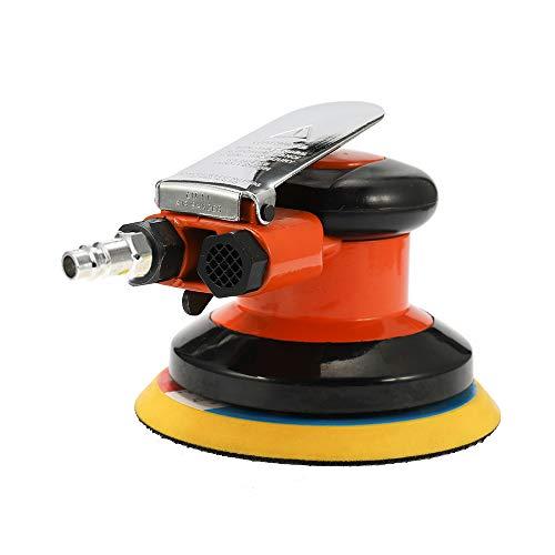 KKmoon 5 Zoll Druckluft Schleifer Exzenterschleifer, 10000 RPM Pneumatische Luftschleifer Autolack Pflege Werkzeug Poliermaschine Elektrische Holzbearbeitung Schleifer Polierer