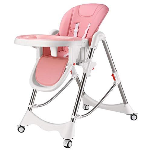 Household Necessities/baby kinderstoel eettafel hoge stoel multifunctionele opvouwbare zitting kinderen dinette roze With Wheels