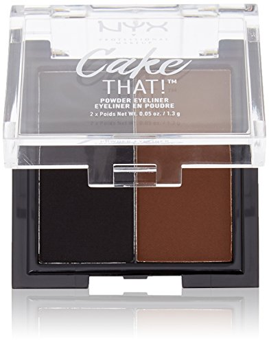 NYX PROFESSIONAL MAKEUP Cake That! Powder Eyeliner, 0.09 Ounce, Black,Brown (CTL01)