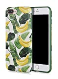 SunshineCases (Tropical Series) Flexible, Thin, Non-Slip Case Design【Compatible: Apple iPhone 8 Plus & iPhone 7 Plus】 (Banana Leaves)