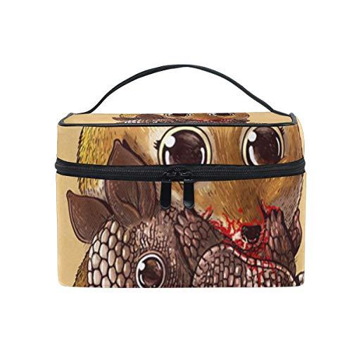 Trousse de maquillage Cute Predators Fox Cosmetic Bag Portable Large Toiletry Bag for Women/Girls Travel