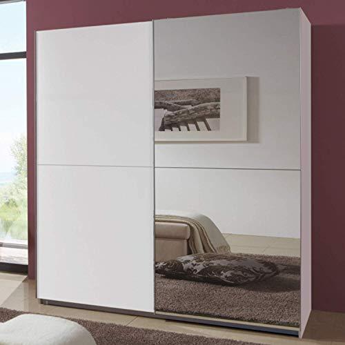 Wimex Kleiderschrank/ Schwebetürenschrank Queen, 2 Türen, (B/H/T) 135 x 198 x 64 cm, Weiß