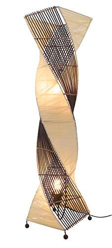 Guru-Shop Stehlampe/Stehleuchte, in Bali Handgemacht aus Naturmaterial, Modell Twister, Rattan, 99x23x23 cm, Stehleuchten aus Naturmaterialien
